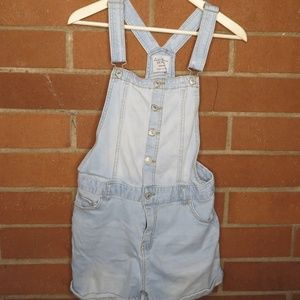 Live tree Denim Light Blue Wash Overall Shorts
